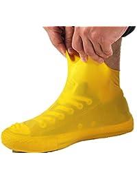 Desi Rang Yellow Reusable Antiskid Rain Shoe Cover