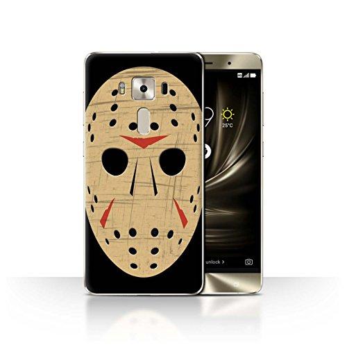 Stuff4 Hülle / Case für Asus Zenfone 3 Deluxe ZS570KL / Jason Vorhees Maske Inspiriert Muster / Grusel Filmkunst Kollektion