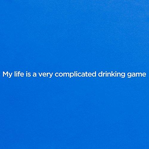 Drinking Game T-Shirt, Damen Royalblau