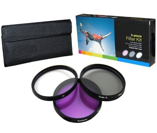 PLR Optics High Resolution 3-piece Filter Set (UV Fluorescent Polarizer) For The Nikon D5000 D3000 D3200 D5100 D3100 D7000 D4 D800 D800E D600 D40 D40x D50 D60 D70 D80 D90 D100 D200 D300 D3 D3S D700 Digital SLR Cameras Which Have Any Of These (18-55mm 55-200mm 50mm) Nikon Lenses  available at amazon for Rs.1629