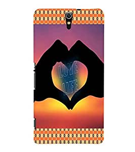 Fuson Heart Case Cover for Sony Xperia C5 dual