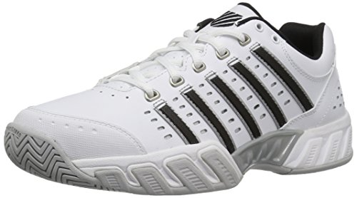 K-Swiss Performance Bigshot Light LTR, Scarpe da Tennis Uomo, Bianco (White/Black/Silver 30) 44 EU