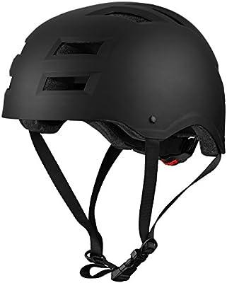 Casco de bicicleta resistente al impacto con 12 agujeros de OMorc, respiración y almohadillas interiores desmontables, ideal para deportes multi-ciclismo, skate, patinaje sobre ruedas - negro(Adulto)