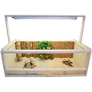 [Gesponsert]Terrarium für Landschildkröten Schildkrötenterrarium 120x60x40cm +++ Echt Holz (Fichte Massiv) Kein Billig OSB!!!!! +++