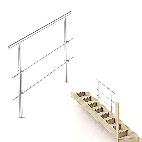 Freistehende Standtreppe Stahltreppe 4 Stufen//Breite 100cm H/öhe 84cm Anthrazitgrau//Stabile Industrietreppe f/ür den Au/ßenbereich