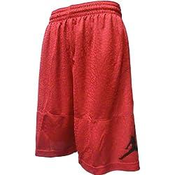 Nike Ele Blockout Pantalón Corto Línea Michael Jordan de Baloncesto, Hombre, Rojo (Gym Red / Black), M