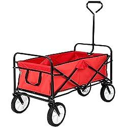 Maxx Chariot de Jardin - charrette à Main - Chariot Transport Bricolage - 93x53x64 cm - Rouge