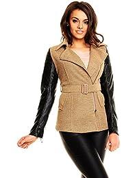 Verde L grande para mujer chaqueta con capucha