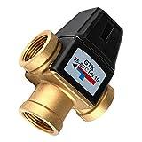 Fenteer Messing Heizung Thermostat Mischventil Thermostatventil Unterteil Brausearmatur - DN25 weiblich