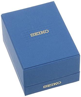 Seiko SNE095P1 - Reloj analógico de caballero de cuarzo con correa de piel plateada (solar) - sumergible a 100 metros