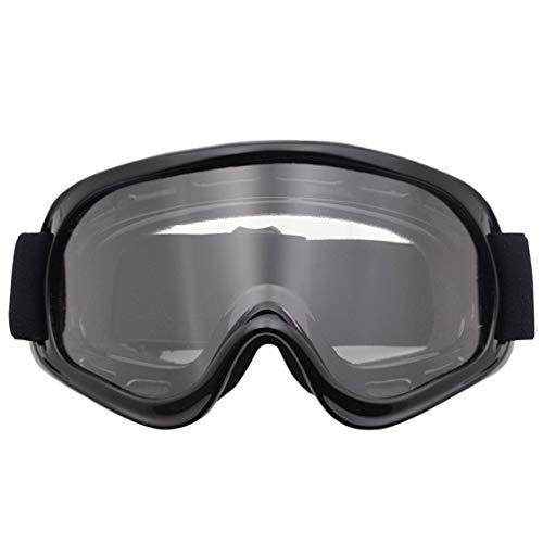 SEN Gafas de Moto Gafas todoterreno Gafas de Casco Gafas de Moto Rider Transparent