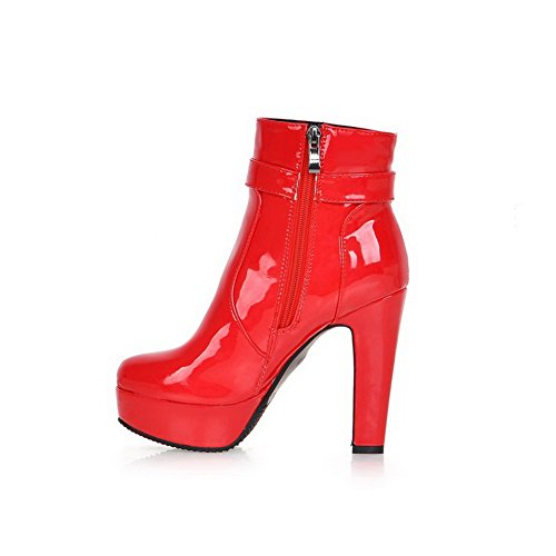 AdeeSu , Bottes Chelsea femme red