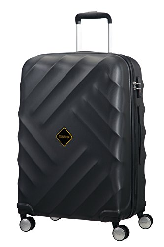 American Tourister Crystal Glow Spinner 66/24 TSA Valigia, Galaxy Black, 64 ml, 66 cm