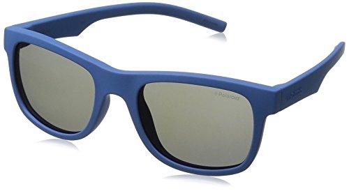 Polaroid Unisex-Kinder PLD 8020/S JY ZDI Sonnenbrille, Blau (Bluette/Greyblmirror Pz), 46