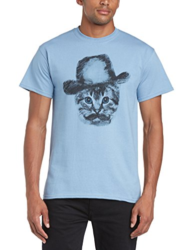Minted Fashion Herren Slim Fit T-Shirt Blau - Stone Blue