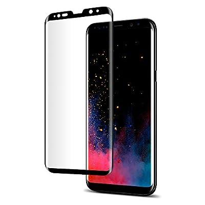 Spigen® Protecteur d'écran Samsung Galaxy S8 [Full Cover BLACK] Verre Trempé Samsung Galaxy S8, **Easy-Install Kit** [Anti-Trace de Doigts] *Ultra Clair* Protection écran Galaxy S8, Film Protection Galaxy S8 (565GL21779)
