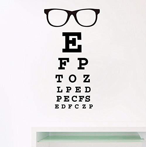 Zjxxm Brille Sehtafel Buchstaben Kunst Wandtattoo Brillen Specs Rahmen Vinyl Aufkleber Augenarzt Optometrie Optische Schaufenster Tür Decor 56 * 33 Cm