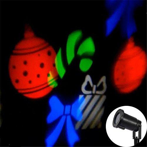 Weihnachtslicht-Projektor mit BUNTEN Motiven - Weihnachtsbeleuchtung - Gartenleuchte Outdoor Lampe EINFACH INSTALLIERT