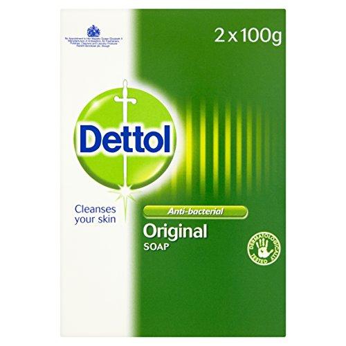 Dettol Anti-Bacterial Original Bar Soap, Pack of 2 x 100 g