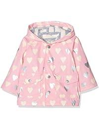 Hatley Infant Raincoat-Metallic Hearts, Impermeable para Bebés