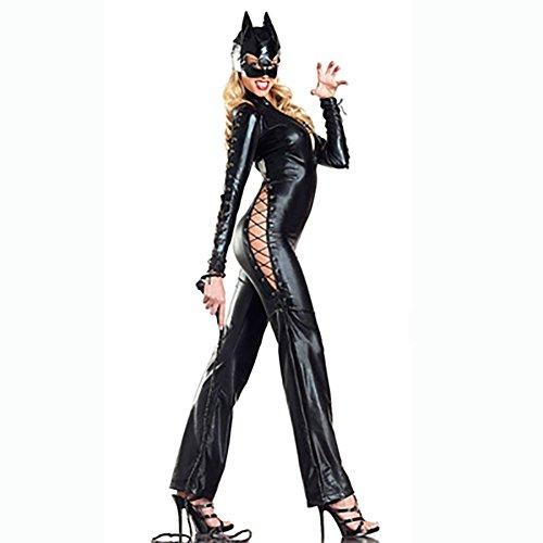 Latex Superman Kostüm - fdhd Wet Look Lackstrumpfhose Cat Mädchen Kostüm Nachtclub Pole Dance Superman Bar DS Kostüm