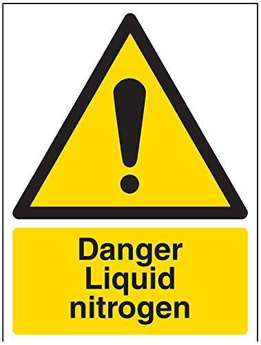"""Vsafety-Schilder 6A006AN-S Warnzeichen, """"Danger Liquid Nitrogen"""", selbstklebend, Hochformat,..."""
