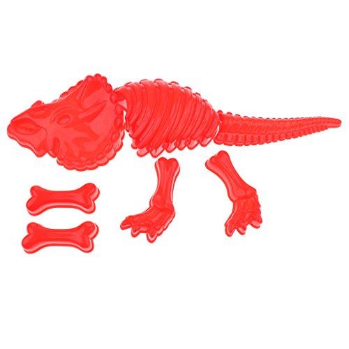 D DOLITY Kinder Sandspielzeug – Dinosaurier Sandformen Spielset – Spielzeug für Kinder ab 3 Jahre alt