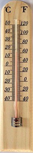 Traditionelle Wand montiert Buche Holz Thermometer Indoor Outdoor Garten Küche Haus Home Sauna Büro Temperatur Dekoration