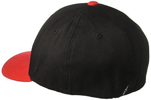 Alpinestars Herren Cap Ride Men's Logo Flexfit Hat Curved Bill Flex Back Rot