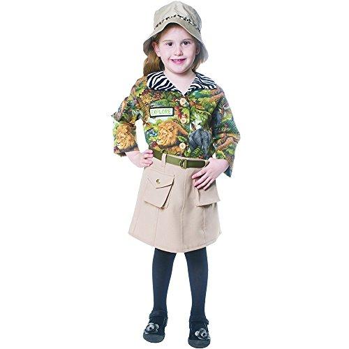 Dress Up America Süßes Safari Mädchen Kostüm, Mehrfarbig, 12-14 Jhare -