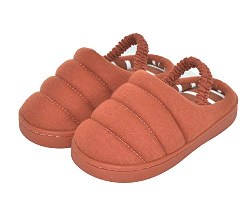 BENHERO Comfort Baby Kids Winter Warm Slippers Coral Plush Lined Slip-On Booties House Shoes