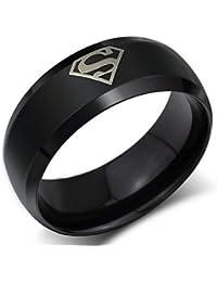 19 Likes Super Hero Black Metal Alloy Finger Rings for Boys Men