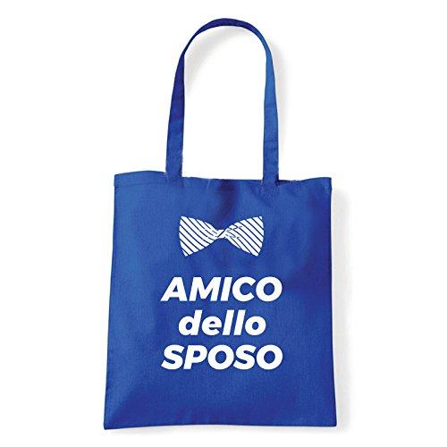 Art T-shirt, Borsa Shoulder Amico dello Sposo, Shopper, Mare Blu