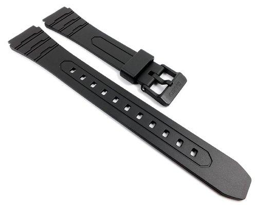 Uhrenarmband Für Casio Ersatz (Casio Ersatzband Uhrenarmband Resin Band Schwarz für W-202-1AVEF W-202)
