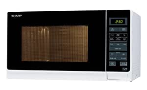 Sharp R372WM 25 Litre Solo Microwave, White