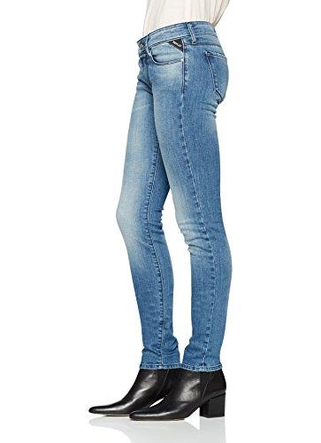 Replay Damen Slim Jeans Rose Blau (Light Blue 9)