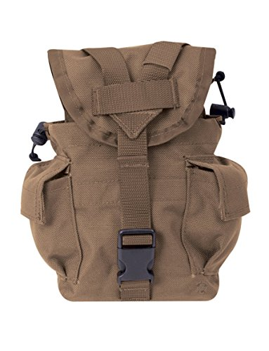 5ive Star Gear Molle 1QT Canteen Pouch, Coyote (Coyote Canteen Pouch Molle)