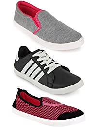Scantia New Latest Fashionable With Stylish Attractive Look Women/Girls Combo Casual Trendy Shoes Comfortable...