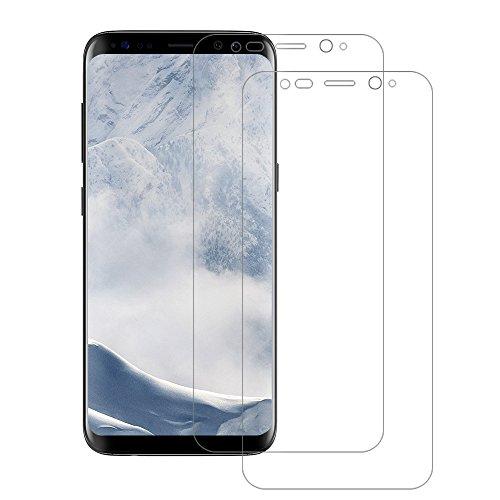 Schutzfolie für Samsung Galaxy S8(Vollständige Abdeckung), POOPHUNS 2 Stück Displayschutzfolie für Samsung Galaxy S8, Ultra Transparenz Full HD, Blasenfrei, Anti-Fingerabdruck und Hohe Qualität