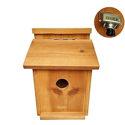 Bestok Birdhouse Bird Trail Camera Kit Colorful with Audio Infrared Night Vision 72° Detection Range Bird Nesting Box Patio Garden Wildlife Camera 30m Cable from Bestok