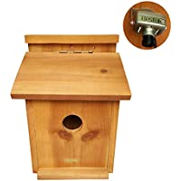 Bestok Birdhouse Bird Trail Camera Kit Colorful with Audio Infrared Night Vision 72° Detection Range Bird Nesting Box Patio Garden Wildlife Camera 30m Cable (Short)