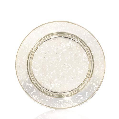 YANKEE CANDLE Kensington - Pantalla y Plato para lámpara (Cristal, tamaño pequeño), Transparente