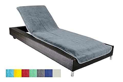 Brandsseller Housse de protection pour chaise longue de jardin, de plage, housse de protection en éponge 100% coton–env. 75x