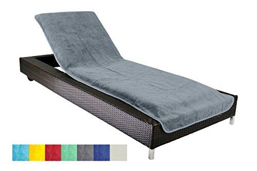 Schonbezug für Gartenliege, Strandliegenauflage, Frottee Schonbezug, 100% Baumwolle - ca.75x200 cm - Grau - Brandseller