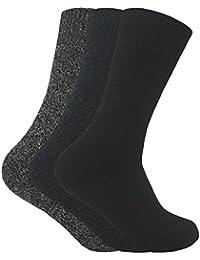 Homme 3 paires larges chaudes laine thermiques bottes chaussettes en 4 colours