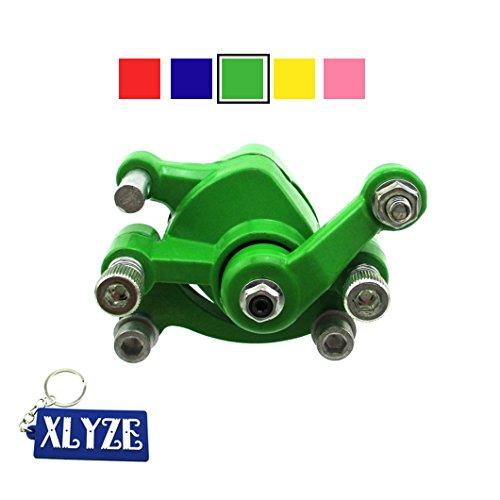 XLYZE Bremssattel Scheibenbremse vorne für 43cc 47cc 49cc Pocket Bike Mini Dirt Bike Elektro Scooter Go Kart grün