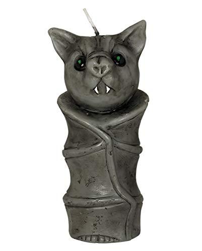Horror-Shop Fledermaus Kerze als Halloween Dekoration 15cm