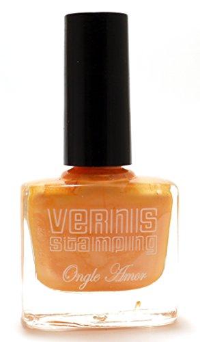 Vernis Stamping Orange Nacré