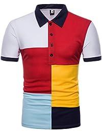 0f1714fdaff Polos Hombre Manga Corta Polos Moda Hombre AIMEE7 Camisetas Hombre Manga  Corta Camisetas Casual Hombre Camisas