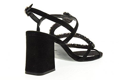 APEPAZZA scarpe donna sandali PLN01/SUEDE PHILIDA NERO Nero